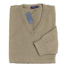 PLAIN Vee Neck Sweater TAUPE