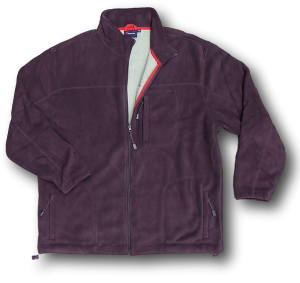 ESPIONAGE Chunky Lined Winter  Fleece Jacket PLUM