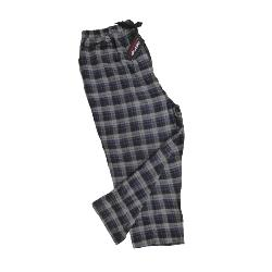 ESPIONAGE BRUSHED COTTON PJ TROUSERS NAVY/CHARCOAL CHECK 2 - 8XL