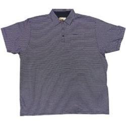 ESPIONAGE Soft Cotton Stripe Polo NAVY/WHITE