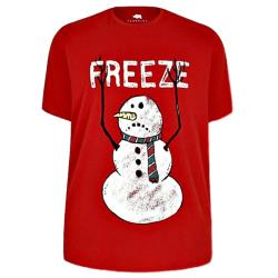 BAD RHINO SNOWMAN TEE 'FREEZE'