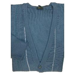 GABICCI Wool Blend Patterned Cardigan INDIGO 3XL