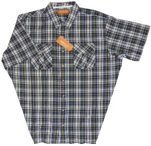 BROOKLYN Natural Cotton Check shirt with twin chest pockets MULTI