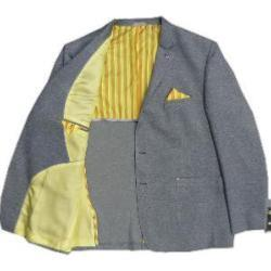 CABANO Fashion Cotton Sports Jacket with contrast lining  GREY MELANGE