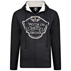 KAM  MOTOR OIL  ZIP HOODY BLACK 2XL