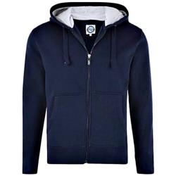 KAM  King Size Cotton rich Full Zip Hoodie NAVY 2 - 8XL