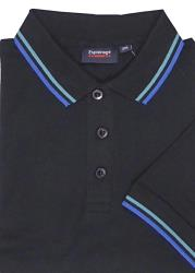 ESPIONAGE COTTON POLO WITH TIPPING DETAIL BLACK 2 - 8XL