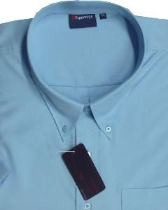 ESPIONAGE Easy Care Short Sleeve shirt DUCK EGG 7XL