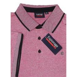 ESPIONAGE TWO TONE COTTON POLO RED 2 - 6XL