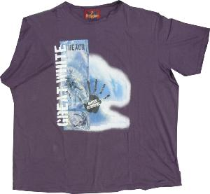 Metaphor  SURF Print Tee with raw  seams PURPLE
