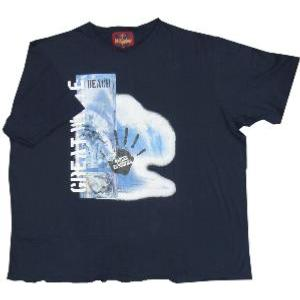 Metaphor  SURF Print Tee with raw  seams NAVY 4XL
