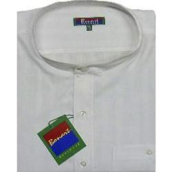 BONART Nehru Collar Shirt CROSS WHITE