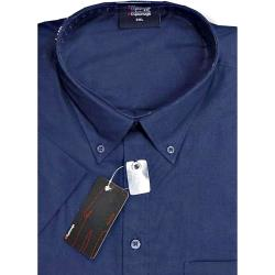 ESPIONAGE Cotton rich Short Sleeve shirt NAVY 2 - 8XL