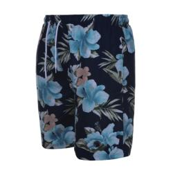 ESPIONAGE FLORAL PRINT SWIM SHORT NAVY  2 - 8XL