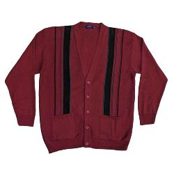 NEW - INVICTA Jacquard Button Cardigan WINE 3 - 5XL