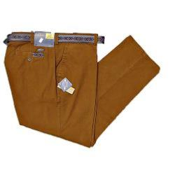 OAKMAN Sulpher Dyed Cotton Chinos  with Active Stretch Lycra TOBACCO