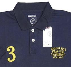 RAGING BULL  Soft Cotton Jersey Polo PLAIN NAVY 3 - 6XL