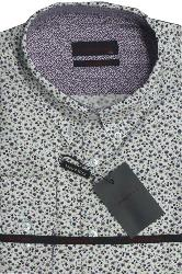 LIZARD KING White Floral Print Shirt with button down collar