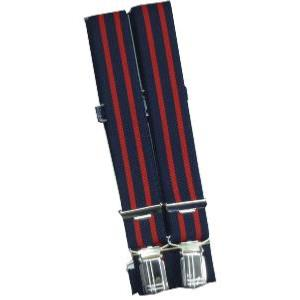 SPEICKER Long Braces NAVY/RED STRIPED