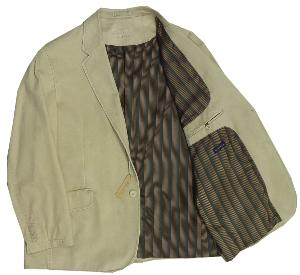 OAKMAN Sulpher Washed Casual Cotton Sports Jacket  SAND 50 SHORT