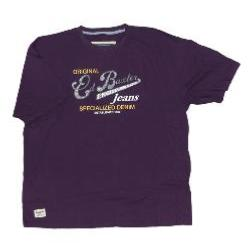 Ed Baxter Natural Cotton Tee ORIGINAL DENIM -  PLUM 4 - 5XL