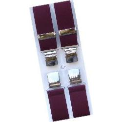 "Big Mens Extra Long 56""  wide fit Braces  WINE"
