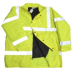 HI VIS Lightly Padded COAT YELLOW 3 - 5XL