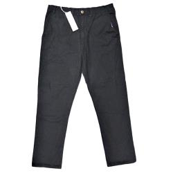 KAM Comfort Stretch Cotton Chino BLACK