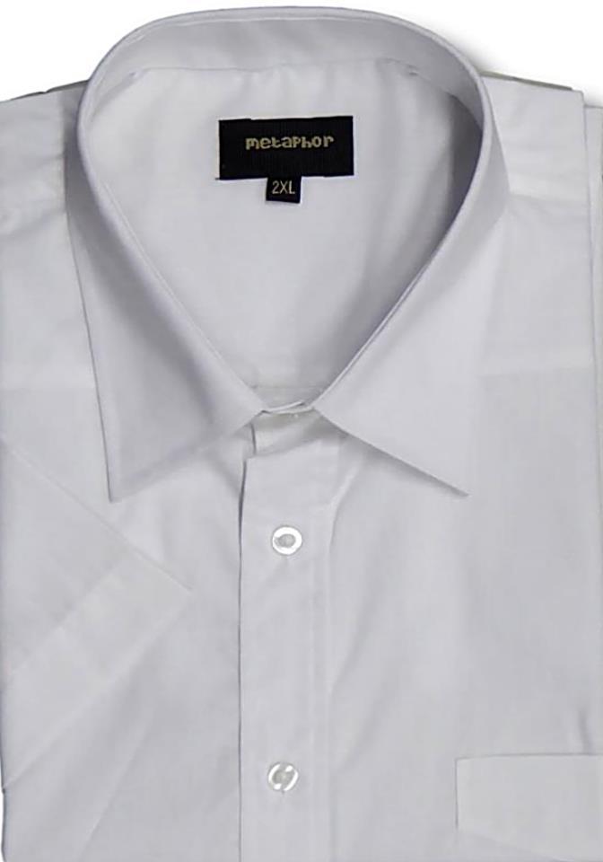 Mens Metaphor Short Sleeve Plain Casual Formal Shirt