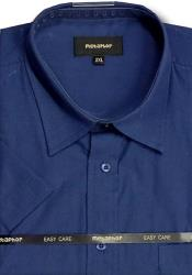 Metaphor Plain Shirt - Short Sleeve NAVY 2 - 8XL