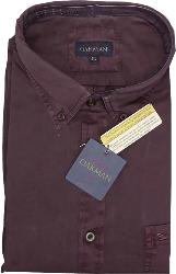 OAKMAN Cotton Twill Plain Long Sleeve Shirt PLUM 5XL