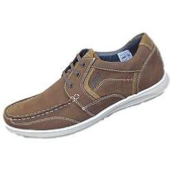POD Casual Leather Lace up  HAWK BROWN