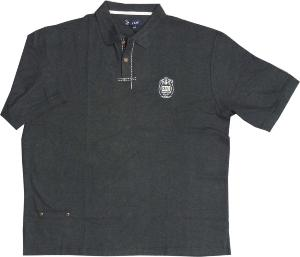 KAM  Honeycomb Woven Polo shirt CHARCOAL 3XL