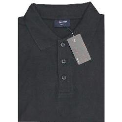 ESPIONAGE  Natural Cotton Pique Polo  BLACK 2 - 8XL