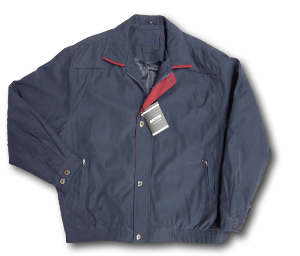 SAXON Lightly Padded Soft Touch Jacket SNAEFELL NAVY
