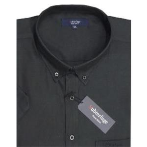 ESPIONAGE Short Sleeve Oxford shirt BLACK / WHITE