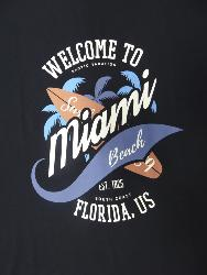 ESPIONAGE Cotton Print Tee MIAMI NAVY 3-4XL