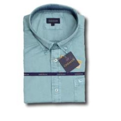 OAKMAN VINTAGE Cotton Twill Shirt SPEARMINT