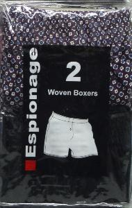 Espionage Woven Boxers (Pack of Two) 7XL