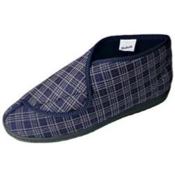 COMFYLUX SLIPPERS  - WIDE FIT Velcro Slipper Bootee JAMES 9 - 13 UK