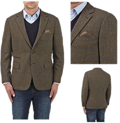 SALE - SKOPES Wool Blend Classic Check Jacket  BROWN LEYBURN 60 - 62""