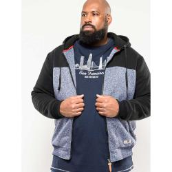 D555 LINED HOODY  ALLEN DENIM  3 - 6XL
