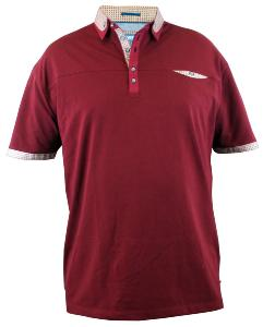D555 Short Sleeve Polo shirt with chest pocket WINE RED JEFF