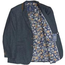 CAVANI Heritage Collection Tweed Style Fashion Blazer NAVY