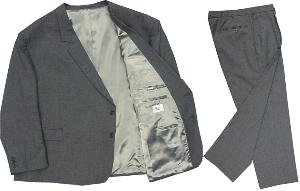 VARTEKS Wool Blend Trevira Suit 'PAVONIS' MID-GREY