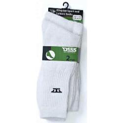 D555 Kingsize Sports and Leisure Socks 2 Pair Pack WHITE