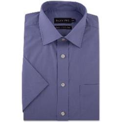 Double Two Non-Iron Cotton Rich Short Sleeve Shirt GRAPE 20""