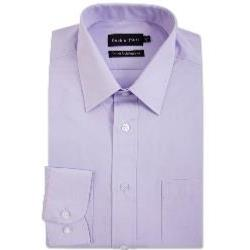 Double Two Non-Iron Cotton Rich Long Sleeve Shirt LILAC