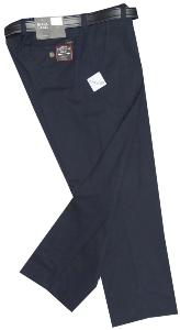 BLACK LABEL Active Flexi-Waist Pure Cotton Chinos NAVY 44""