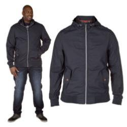 D555 Lightweight Cotton Bomber Style  Jacket with Hood NAVY BRENDAN 3 - 6xl